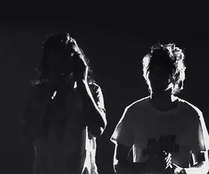 black and white, larry, and harry image