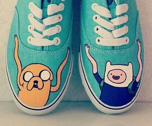 adventure time, shoes, and vans image