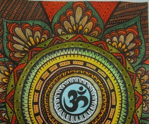 mandala, art, and om image