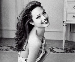 Angelina Jolie, smile, and actress image