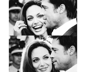 love, brad pitt, and couple image