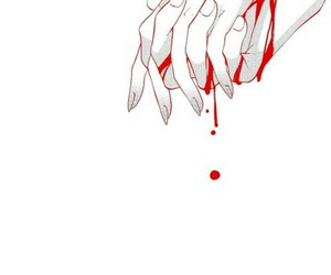 anime, blood, and hands image