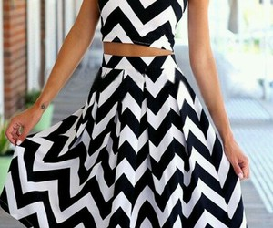 blackandwhite, summerdresses, and twopiece image