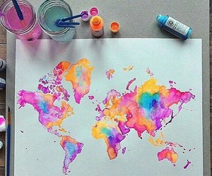world, art, and paint image