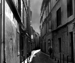 alley, france, and b&w image