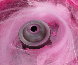 pink, cotton candy, and food image