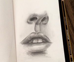 draw, drawing, and lips image
