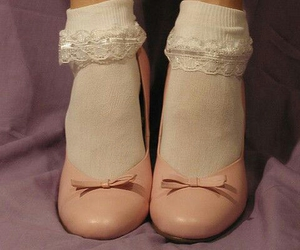 shoes, pink, and socks image