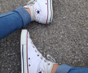 blue, converse, and red image