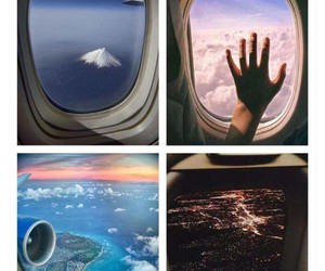 travel, world, and plane image