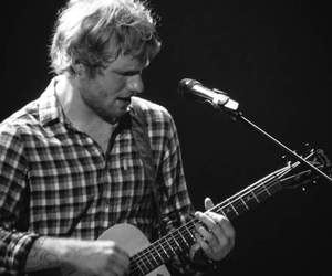 black and white and ed sheeran image
