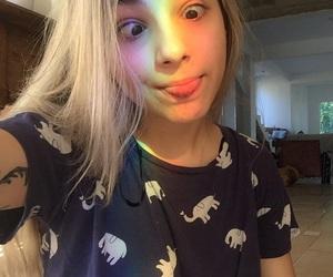 girl, tumblr, and rainbow image