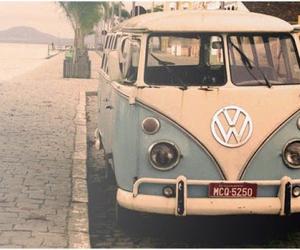 car, vintage, and vans image
