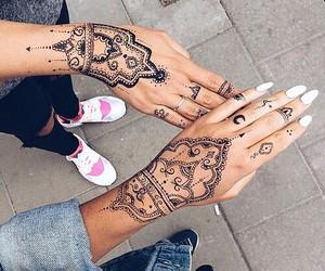 henna, tattoo, and nails image