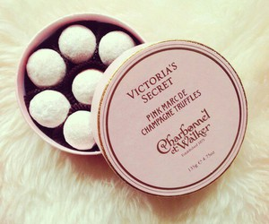 pink, Victoria's Secret, and truffles image