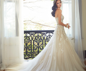 Dream, wedding dress, and white image