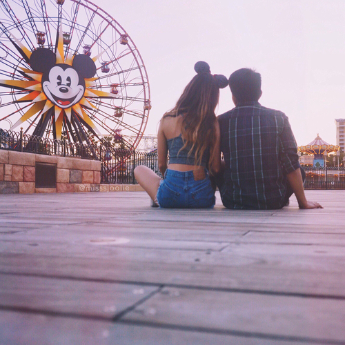 couple, disney, and mickey image
