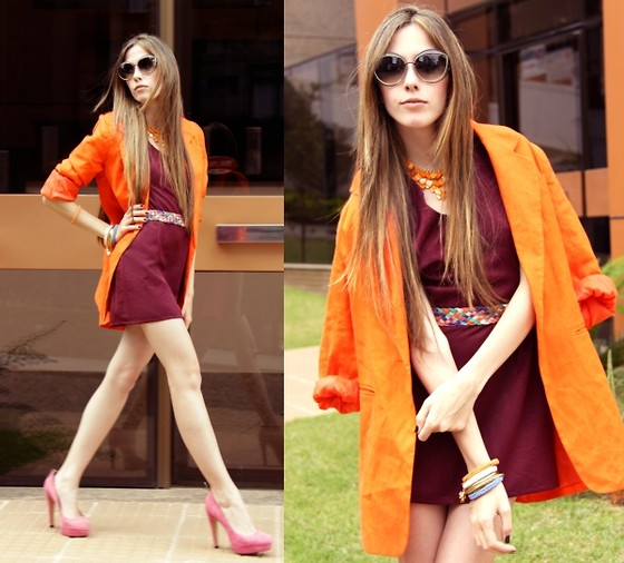 fashion, pink heels, and style image