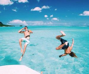 beach, summer, and boys image