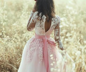 dress, love, and nature image