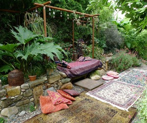 bohemian, garden, and nature image