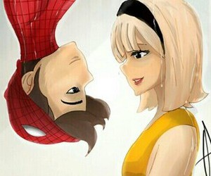 love, kiss, and spiderman image