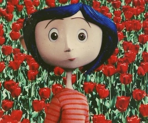 coraline and flowers image