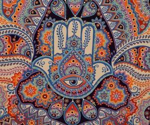 hippie, nature, and hamsa image