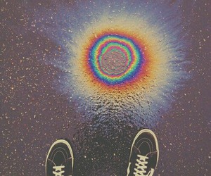 grunge, rainbow, and hipster image