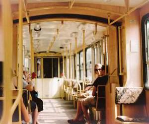train, people, and vintage image
