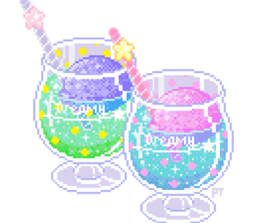 pixel, drink, and kawaii image