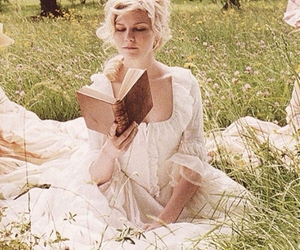 marie antoinette, reading, and Kirsten Dunst image