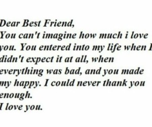 best friends and word image