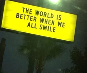 smile and world is a better place image