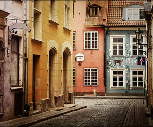 street, city, and house image