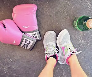 boxing and pink image
