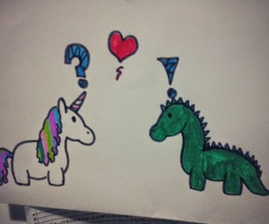 dinosaur, love, and draw image