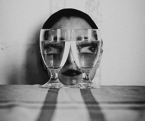 black and white, eyes, and photography image