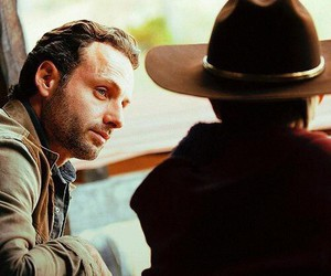 the walking dead and father and son image