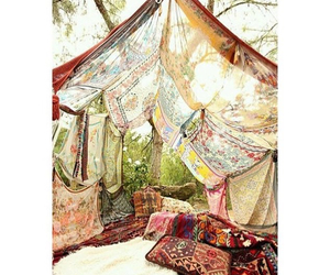 blankets, hippie, and nature image