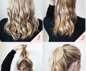 blonde, girly, and hair image