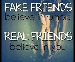 quotes, fake friends, and real friend image