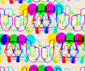 background, colors, and mickey image