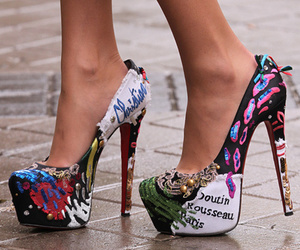 colourfull, fashion, and heels image