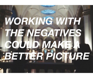negative and quote image