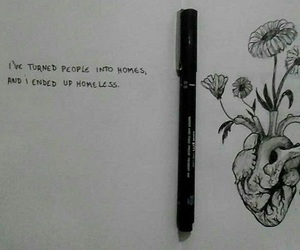 black and white, tumblr, and drawing image