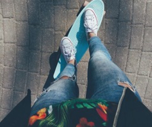 fashion, jeans, and skate image