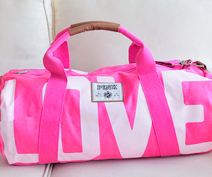 pink, love, and bag image