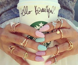 nails, starbucks, and be beautiful image