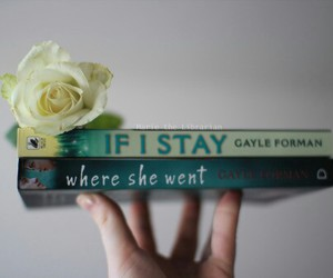 books, reading, and if i stay image